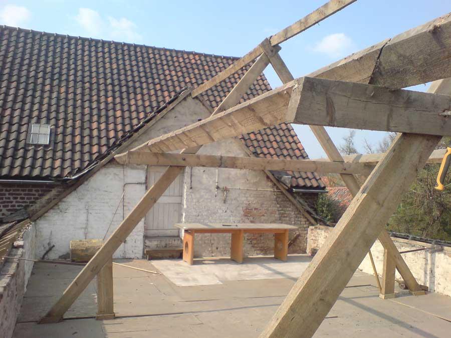 atelier tijdens verbouwing