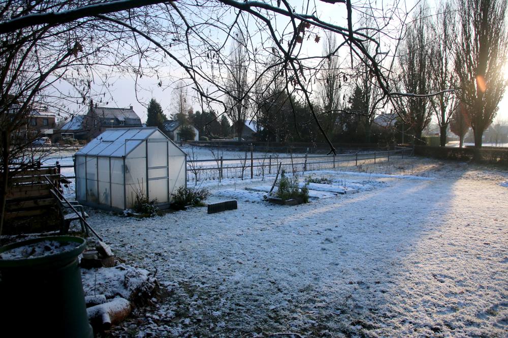 Koude kas in de winter