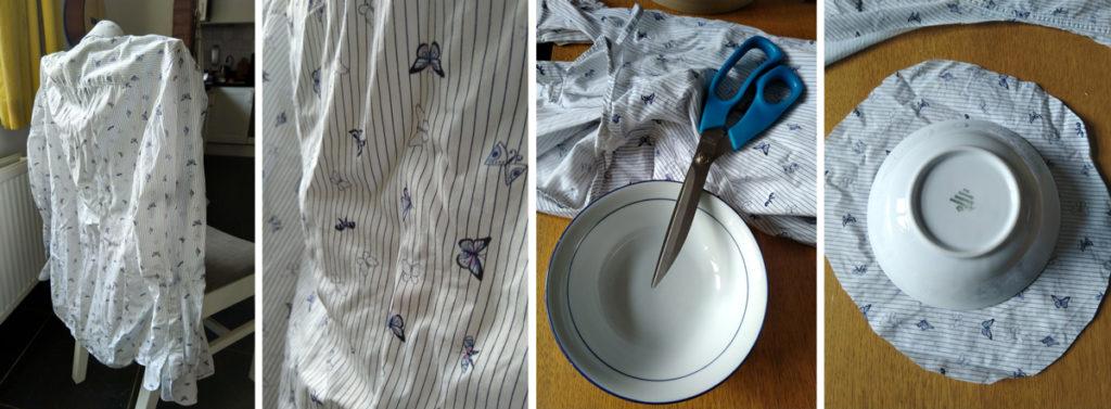 Een oude blouse hergebruiken als bijenwasdoek.