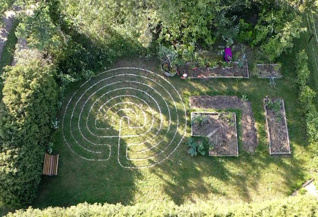 Het Labyrint gefotografeerd met een drone.