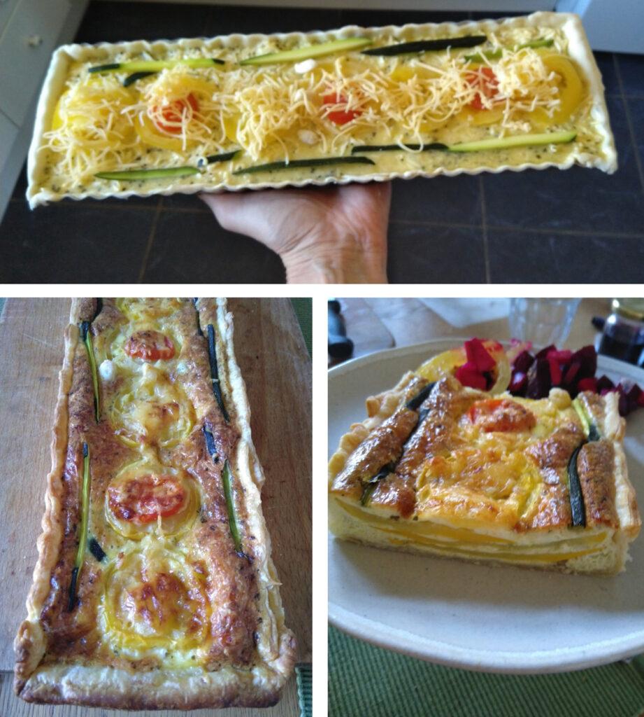 Courget-tomaten taart.