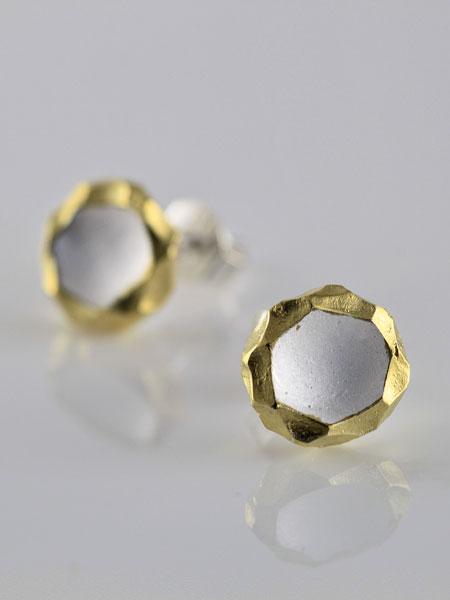 Zilveren Moonlit oorbellen