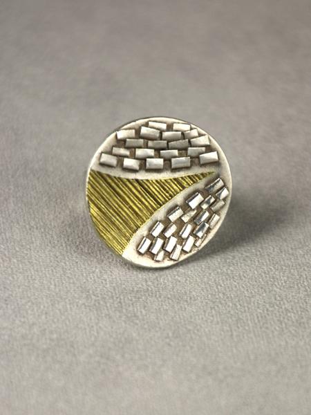 zilveren ring uit de Erosie serie