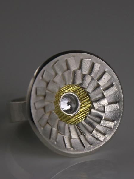 Zilveren ring Focus uit de Erosie serie